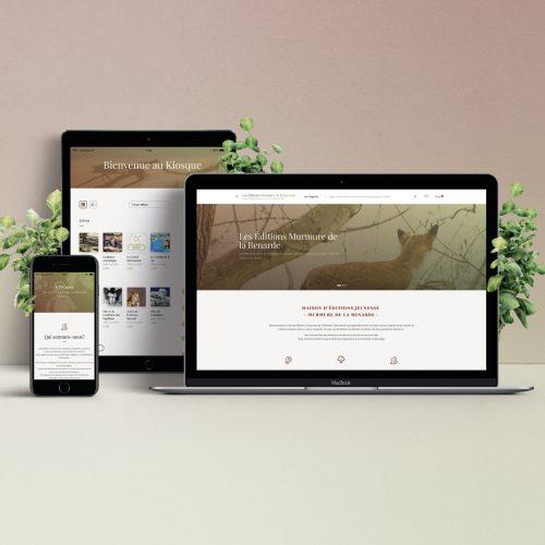 Création du site e-commerce Editions Murmure de la Renarde