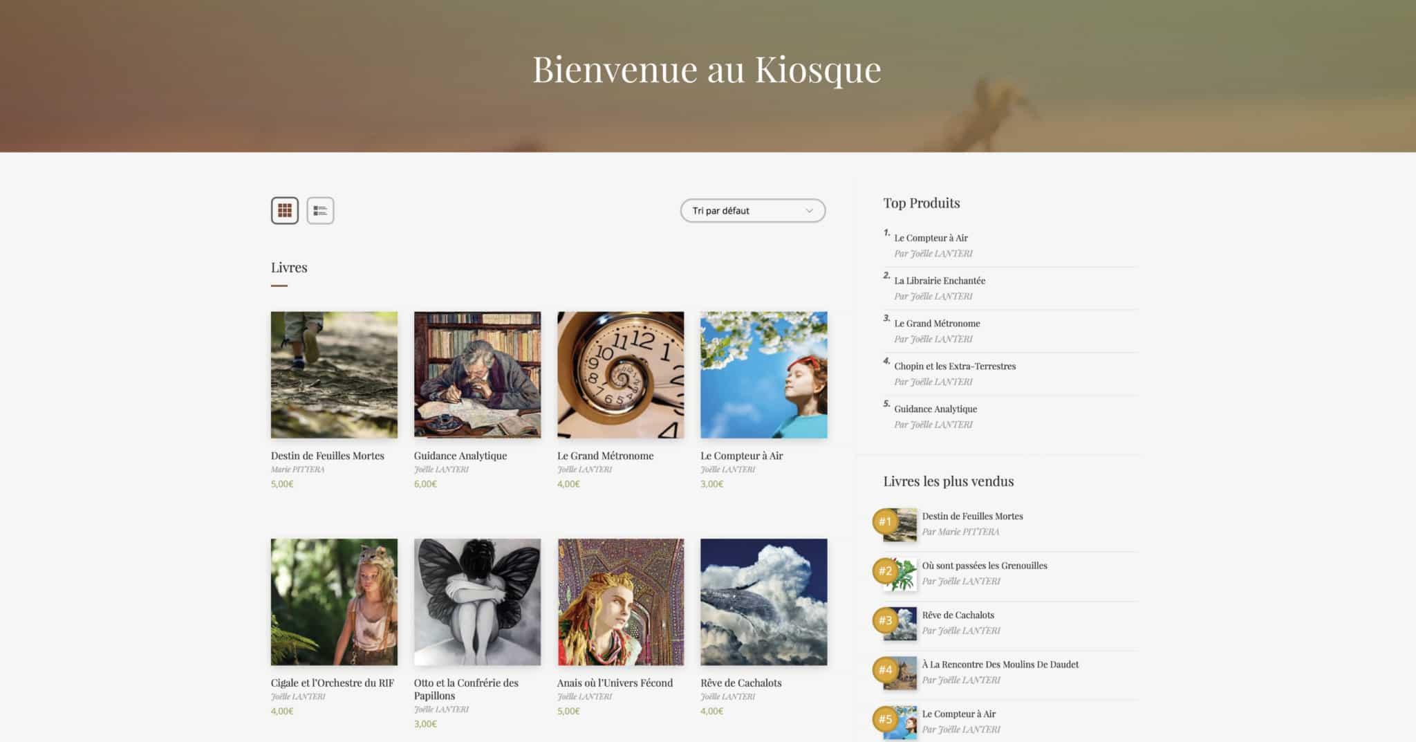 page kiosque site e-commerce maison éditions jeunesse