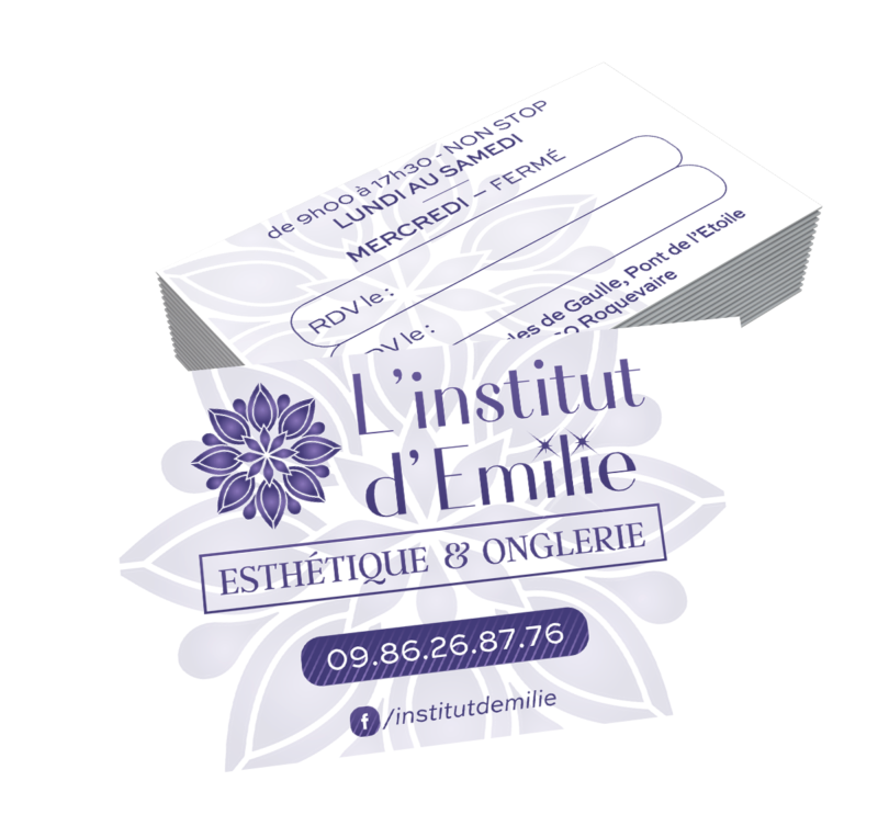 création carte de visite institut emilie impression