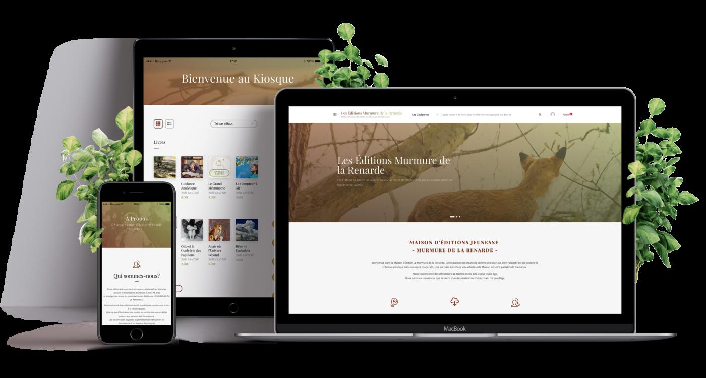création site e-commerce maison d'édition jeunesse