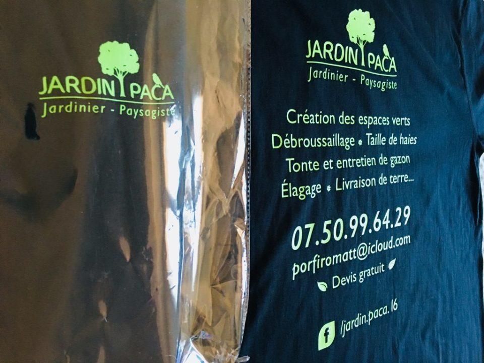 jardin paca t-shirt flocage