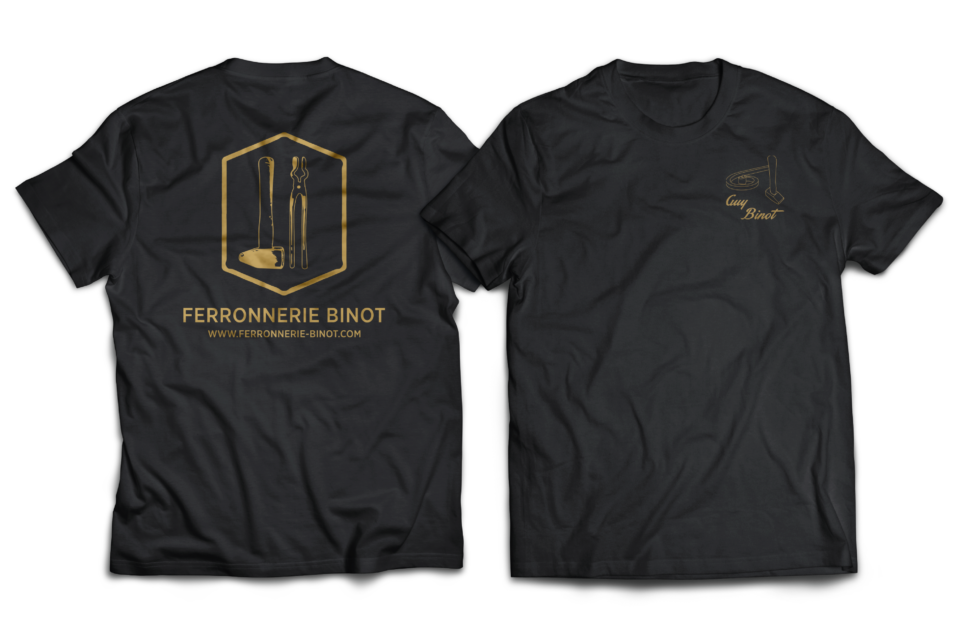 t-shirt ferronnerie binot flocage brodage