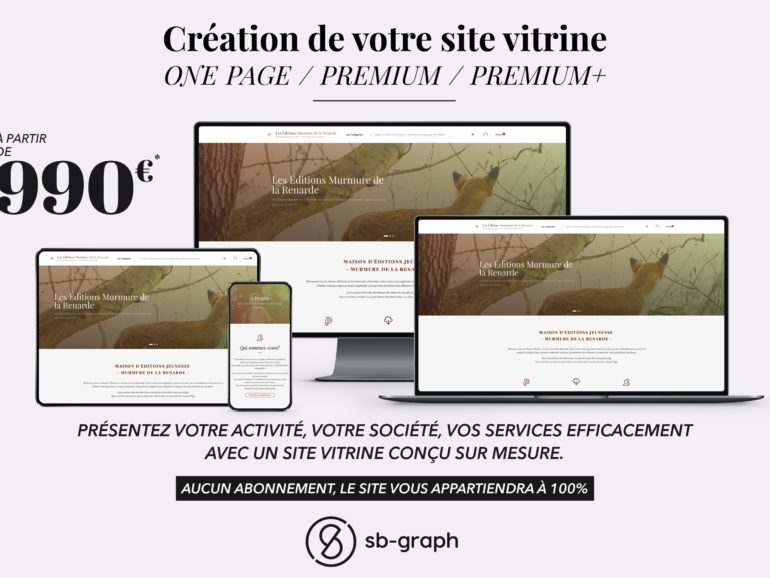 Conception de votre site internet vitrine WordPress à Marseille – SB-GRAPH