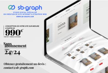 Création de votre site internet sur-mesure à Aubagne – SB.GRAPH | Webmaster Freelance