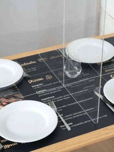 plexiglass restaurant nice
