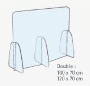 séparateur de table en plexiglass paca