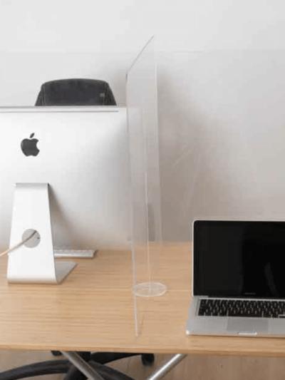 protection de bureau en plexiglass transparent Marseille